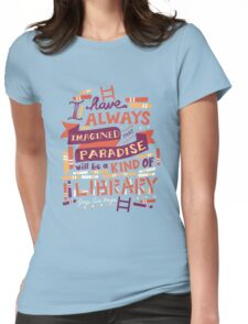 Library Womens Fitted T-Shirt