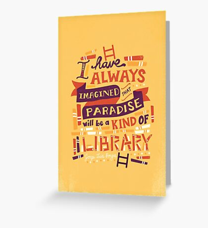 Library Greeting Card
