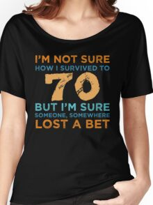 70th Birthday Survival Women's Relaxed Fit T-Shirt
