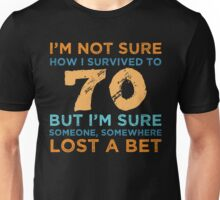 70th Birthday Survival Unisex T-Shirt