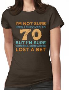 70th Birthday Survival Womens Fitted T-Shirt