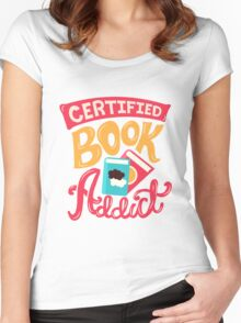 Certified Book Addict Women's Fitted Scoop T-Shirt