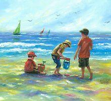THREE LITTLE BEACH BOYS II by VickieWade