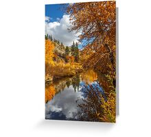 Susan River Autumn Reflections Greeting Card