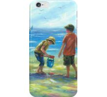 THREE LITTLE BEACH BOYS II iPhone Case/Skin