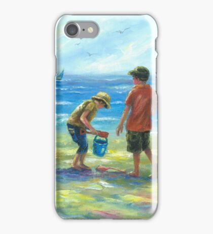 THREE LITTLE BEACH BOYS II iPhone Case/Skin
