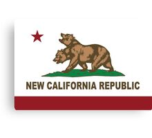 New California Republic Flag Original  Canvas Print