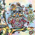 Rainbow of Peace Owl by © Karin (Cassidy) Taylor