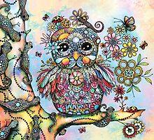 Rainbow of Peace Owl by © Karin (Cassidy) Taylor