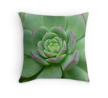 Green and Succulent Throw Pillow