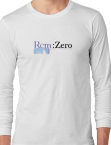 Rem: Zero (English Text) Long Sleeve T-Shirt