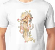 Art nouveau lady Unisex T-Shirt