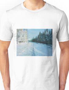 Ski Tracks Unisex T-Shirt