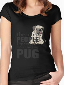 i love pug Women's Fitted Scoop T-Shirt