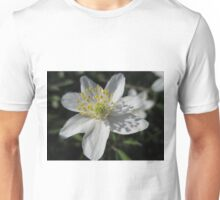 Single White Wood Anemone Unisex T-Shirt