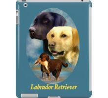 Labrador Retrievers Breed Art with Nameplate iPad Case/Skin