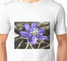 Single Blue Wood Anemone Unisex T-Shirt