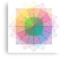 Sacred Geometry cubed orb Canvas Print