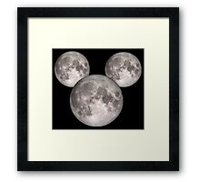Mickey Moon BIG (see also: small) Framed Print