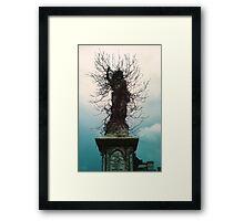 Cherub in Ivy, Kensal Green Cemetery, London Framed Print