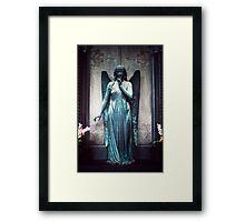 Blue Angel, Cimitero Monumentale di Staglieno, Genoa, Italy Framed Print