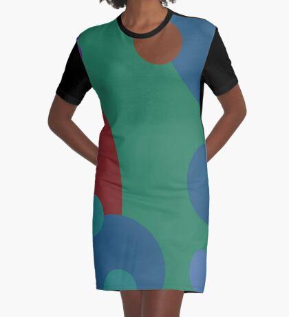 circles abstract Graphic T-Shirt Dress