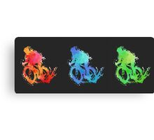 The three cyclists Canvas Print