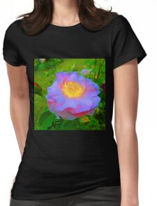 Funky Rose Violet & Pink Womens Fitted T-Shirt