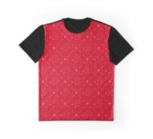 symmetric stars on red background Graphic T-Shirt