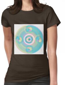 Sacred Geometry Orb cubical Aqua Womens Fitted T-Shirt