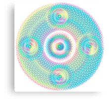 Sacred Geometry Orb cubical Aqua Canvas Print