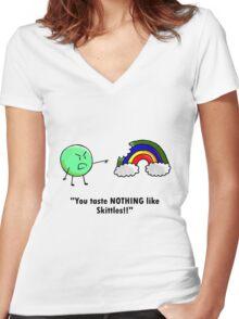 Skittles Women's Fitted V-Neck T-Shirt
