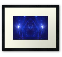 Blue Spooky Lights Framed Print