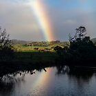 Reflected Rainbow, Apollo Bay Victoria by Malcolm Katon