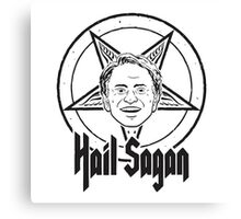 Hail Sagan Pentagram Canvas Print