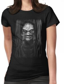 The Creature (monotone) Womens Fitted T-Shirt