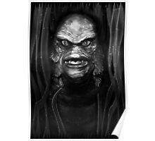 The Creature (monotone) Poster