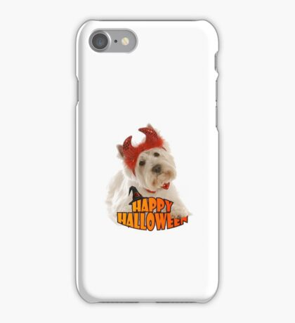 Happy Halloween with White Dog iPhone Case/Skin