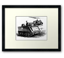 M113 and UH1 Framed Print