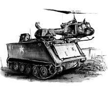 M113 and UH1 Photographic Print