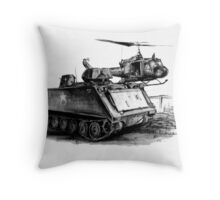 M113 and UH1 Throw Pillow
