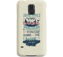 Mischief always wins the war Samsung Galaxy Case/Skin