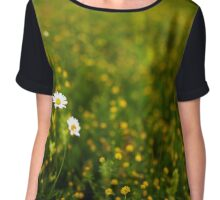 Wild flowers in a field Chiffon Top