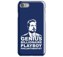 Tony Stark (White Version) iPhone Case/Skin