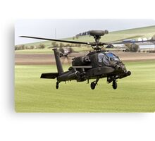 British Army Air Corps AugustaWestland Apache AH1 Helicopter Canvas Print