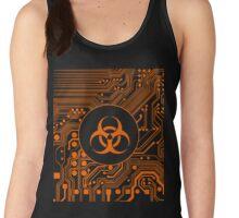 Orange Biohazard (Cybergoth) Women's Tank Top