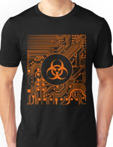 Orange Biohazard (Cybergoth) Unisex T-Shirt
