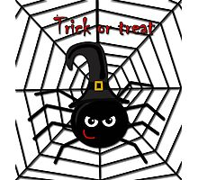 Halloween cute spider Photographic Print