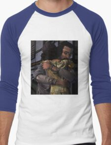 Lee and Clementine Hugging Men's Baseball ¾ T-Shirt