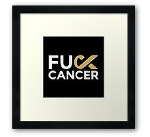 Fuck Cancer Framed Print